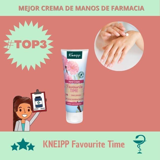 mejores cremas de manos farmacia favorite time