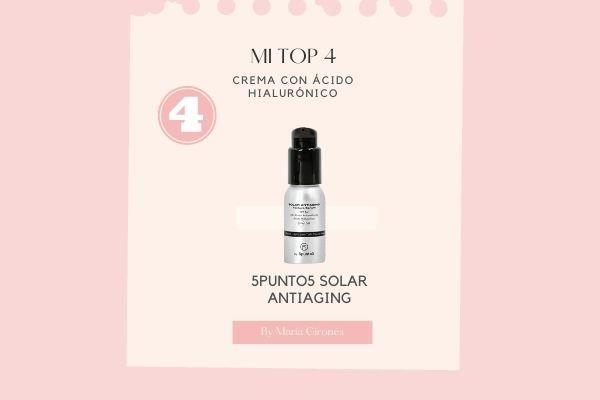 mejor crema con acido hialuronico y protector solar